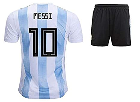 official photos d7841 b6c32 PARALLEL TIMES Argentina Jersey and Shorts World Cup with Messi Printed kit  White/Blue(Argentina Jersey Messi Messi Tshirt)