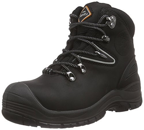 Sanita Unisex Adults' San-Safe Colorado Boot Safety Shoes, Black, 8 UK