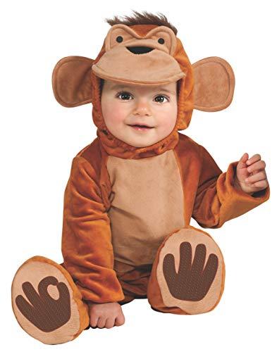 Rubie's Cuddly Jungle Funky Monkey Romper Costume, Tan, 12-18 Months]()