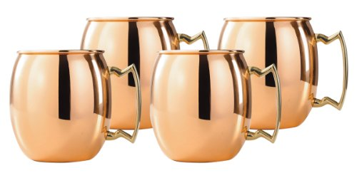 Old Dutch 16-Ounce Solid Copper Moscow Mule Mug, Set of (Vodka Root Beer)