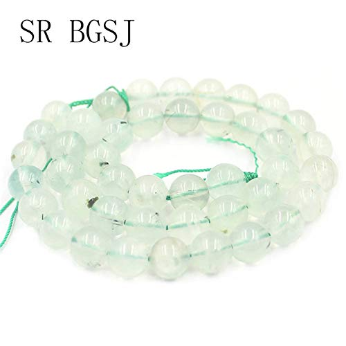 Calvas 4 6 8 10 12mm New Fashion Green Prehnites Gems Genuine Natural Round Beads Stone DIY Beads Strand 15
