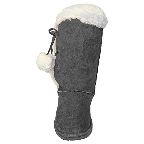 Dawgs Womens 13 Pollici Side Tie Microfibra Boot Grigio
