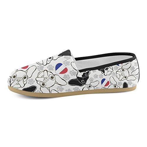 D-story Zapatillas De Moda Flats Rosa Flamingo Mujeres Classic Slip-on Zapatos De Lona Holgazanes Multi4