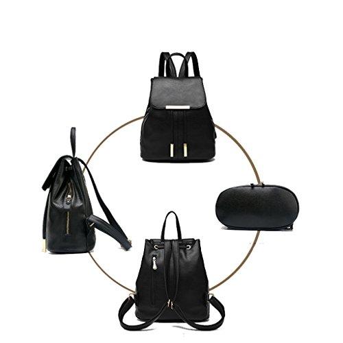 Damen Frauen Mädchen Rucksack 2017 neue Schultertasche weibliche koreanische Version der Welle PU Tasche einfache wilde Studenten Tasche Freizeit Mode Damen Rucksack (Schulterriemen: verstellbar) (20