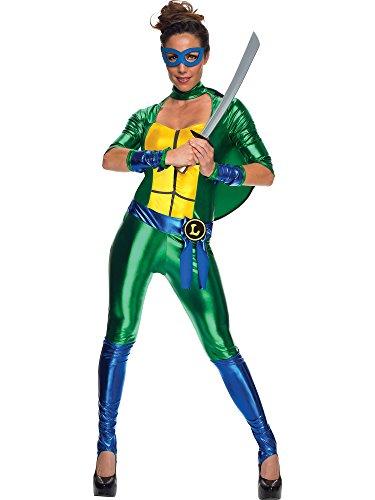 Secret Wishes Women's Teenage Mutant Ninja Turtles Leonardo Costume Jumpsuit, Multi, Small ()