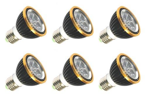(iLLumi Projections WARM WHITE par20 6 pack 120v 130v 5 watt LED PAR20 Halogen spot flood light bulb replacement =30 watts E26 30000H)
