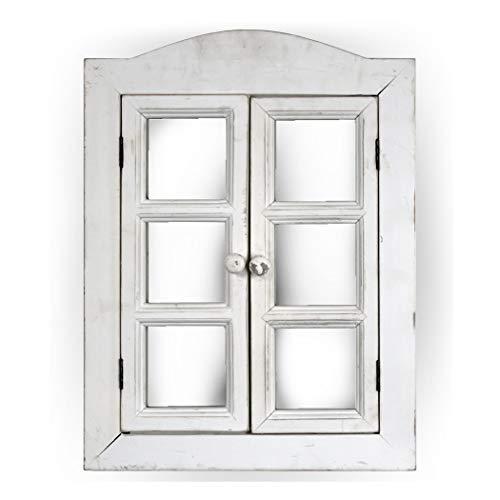 Crystal Art Window Shutter Vanity Wall Mirror-Rustic Country Farmhouse Décor, ()