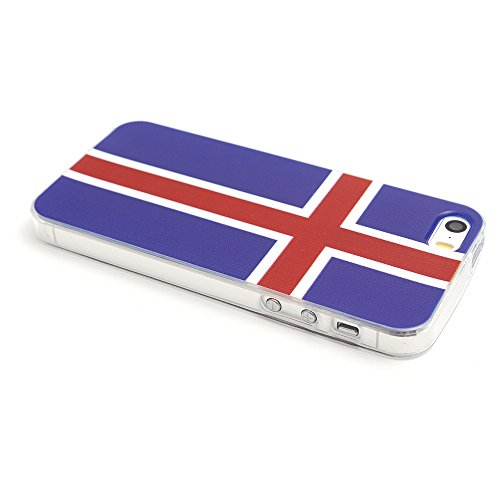 iProtect Apple iPhone 5 5s SE Soft Case Housse en TPU 0,3mm Islande