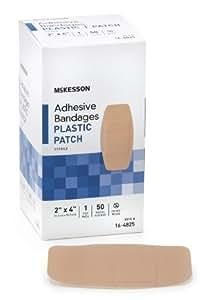 2 Pack McKesson McKesson Adhesive Bandages 16-4825 (100 Bandages)