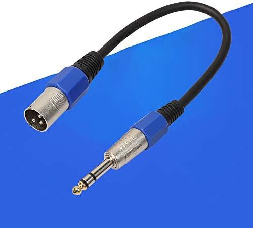 Cavo XLR maschio a 6,35 mm cavo stereo attivo TRS bilanciato nero 1 m Mouchao