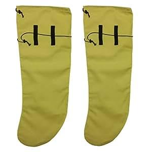Anti Leech Hiking Socks Free Size Protection for Trekking (Yellow, Standard)