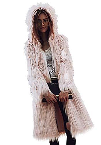 Puro Invernali Prodotto Giaccone Addensare Di Pelliccia Battercake Pink  Donna Elegante Lunga Donne Calda Sintetica Manica ... 3299540ee00c