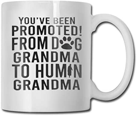 You've Been Promoted from Dog Grandma to Human Grandma Funny Coffee Mug - 11 Ceramic Coffee Cup - Best Gifts Idea for Christmas, Valentine and Birthday, Father's Day and Mother's Day Cup