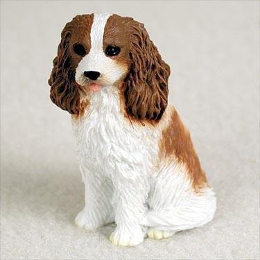 Cavalier King Charles Spaniel Miniature Dog Figurine - Brown & (Miniature Cavalier King Charles Spaniel)