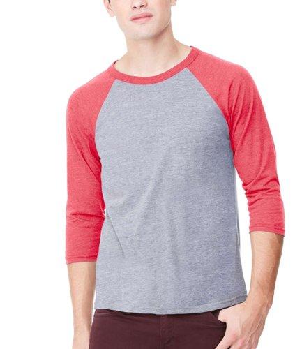 Bella Canvas Herren T-Shirt Grau Grey/Light Red Tri-blend