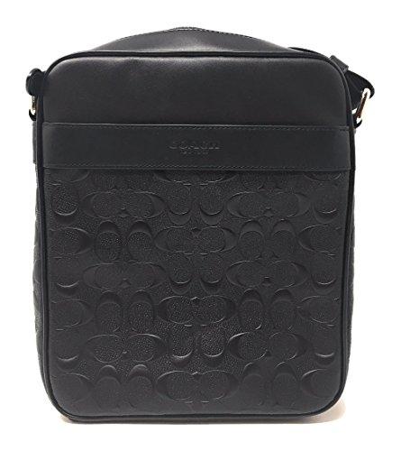 Coach Flight Bag in Signature Crossgrain Leather NI/Black (Men Coach Bag For Flight)