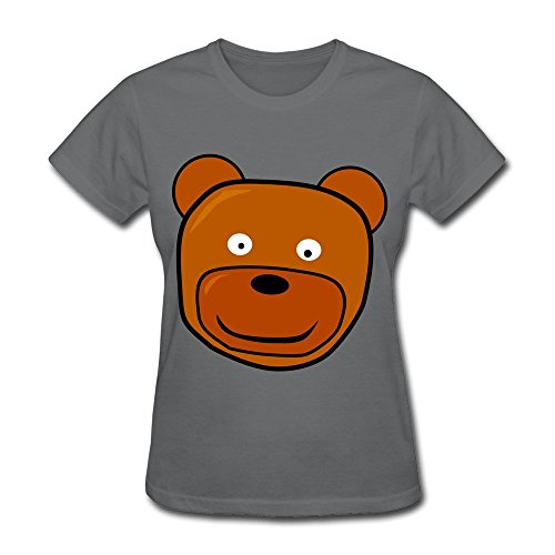 deepheather-animal-head-face-short-sleeve-shirt-for-women-size-xl