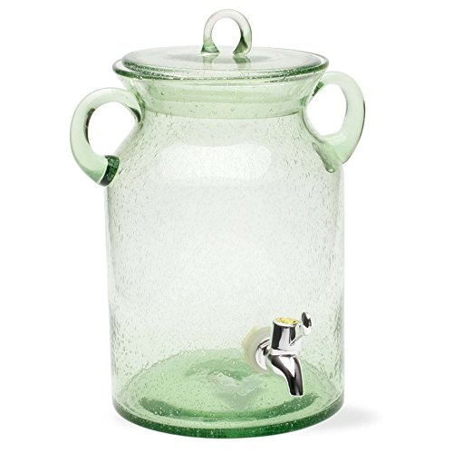 Tag 350218 28.5-Cup Bubble Glass Drink Dispenser, Green