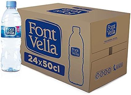 Font Vella - Agua Mineral Natural - Caja 24 x 50Cl: Amazon.es: Alimentación y bebidas