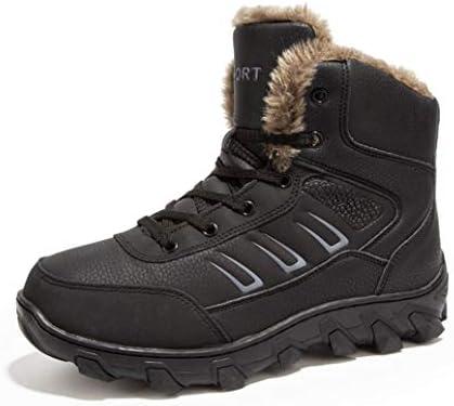 雪靴 ワークブーツ メンズ 防滑 スノーブーツ 裏起毛 ウィンターブーツ アウトドア 綿靴 防水 防寒靴 ショットブーツ インナークッション 裏ボア ハイキングブーツ 通勤 ウォーキングシューズ マーティンブーツ