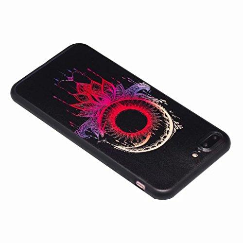 Yiizy Hülle Apple IPhone 8 Plus Schale, Schwarzer Mond Ultra Slim Klar Transparent handy taschen Schutzhülle Anti-Kratzer Weich TPU Silikon Cover Flexibel Gummi Haut Bumper Leicht Schutz Kristall Lang