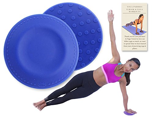 Blue Yoga & Pilates Pads 2 Pack + Travel bag + Workout E-book. Mat Support Comfort for Knee Hand Wrist Head Shoulder & Elbow. 3/4 Inch Thick Silicone Cushion Eliminates & Protects Joints Injuries.