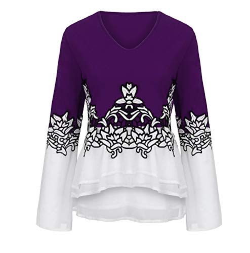 T-shirt Horse Quality Time - vermers Clearance Fashion Plus Size Clothing for Women Womens Printed Flare Sleeve Tops Blouses Keyhole T-Shirts(3XL, z1-Purple)