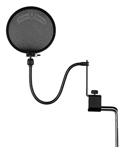 Shure PS-6 Popper Stopper Pop Filter with Metal Gooseneck and Heavy Duty Microphone Stand Clamp ()
