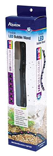 Aqueon Multi-Color Flexible LED Bubble Wand Aquarium Light, 14-Inch (Renewed)