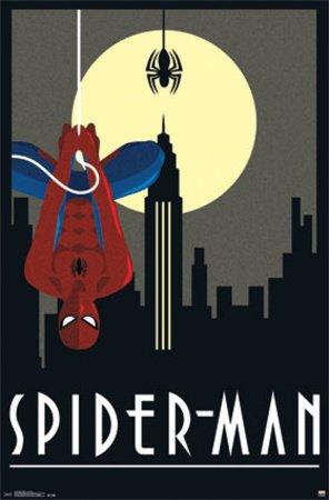 (22x34) Spider-Man Art Deco Poster