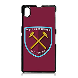 Soccer Logo Cover West Ham United FC Mark Phone Case Snap on Sony Xperia Z1 Excellent Stylish West Ham United Design Back Case