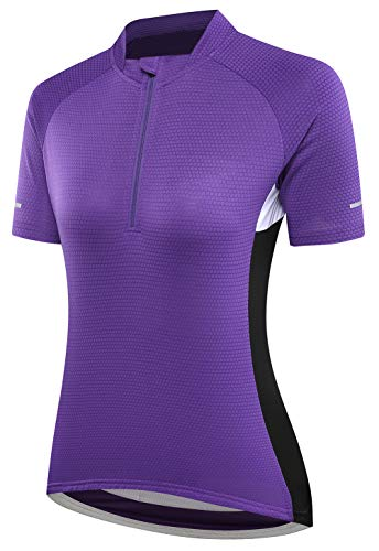 AFDLT Women's Summer T-Shirts,Men's Outdoor Cycling Jersey,Sport Fitness Shirt,Quick Dry Breathable Short Sleeve