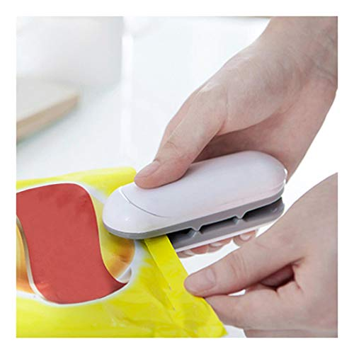 HEVÜY Mini Folienschweißgerät mini Bagsealer Hand-Folienschweißgerät, Lebensmittel bleiben vakuumiert bis zu länger frisch (Gray)