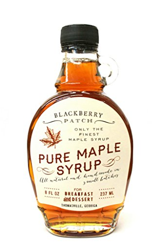 Pure Maple Syrup - Blackberry Patch Syrups 3 Ingredients 8 oz Bottle – Perfect on Pancakes, Waffles & French Toast, Great Dessert Topping (Pure Maple, 8 (French Waffle)