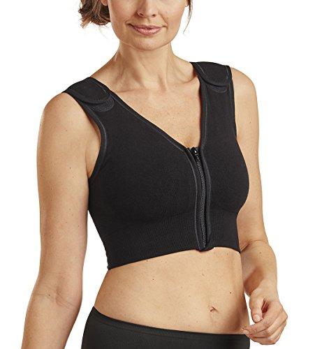 (Carefix   Sophia   Front Close Post-Op Compression Surgical Vest  3342, Black, Large)