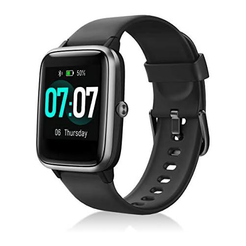 chollos oferta descuentos barato Idealroyal Smartwatch Reloj Inteligente Impermeable IP68 Rastreador de Actividad Física con Monitor de Sueño Contador de Caloría Pulsómetros Podómetro para Android iOS Negro
