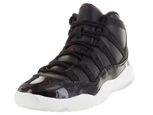 Nike Jordan 11 Retro BP, Zapatillas de Deporte para Niños Negro / Rojo / Blanco (Black / Gym Red-White-Anthracite)