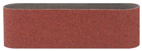 Bosch 2609256223 Bandes abrasives pour Ponceuses à bande Qualité rouge 100 x 560 Grain 80 Lot de 3 feuilles