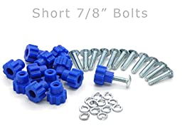 Pet Carrier Fasteners - Blue 16 Pack (Short 7/8\