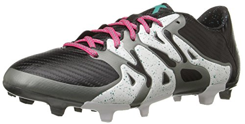 adidas Performance Men's X 15.3 Cleat Soccer Shoe,Black/Shock Mint/White,10 M US - Football Shoes Ag