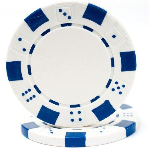 Trademark Poker 100 Striped Chip, 11.5gm, White
