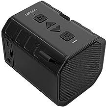 Rokono BASS+ (Sidewinder) Bluetooth Speaker with Cell Phone Holder Grip for iPhone / Samsung - Black