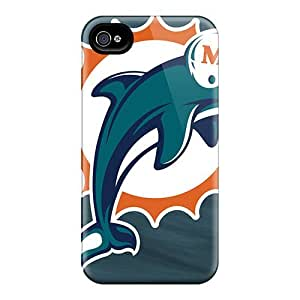 Excellent Iphone 4/4s Case Tpu Cover Back Skin Protector Miami Dolphins