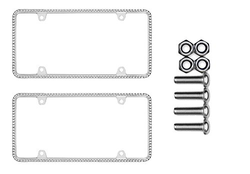 - Cruiser Accessories 18130 Diamondesque Chrome License Plate Frame Bundle with Metric Fasteners for Most Import Cars & Trucks (3 Items)