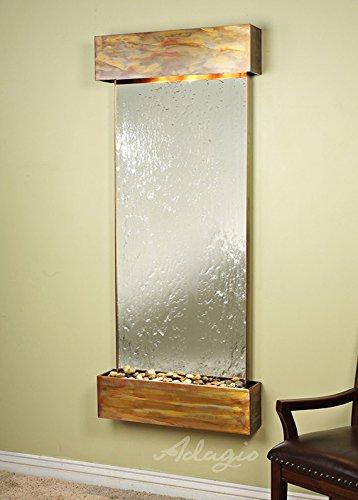 Adagio Inspiration Falls Wall Fountain Silver Mirror Blackened Copper - IFR1540