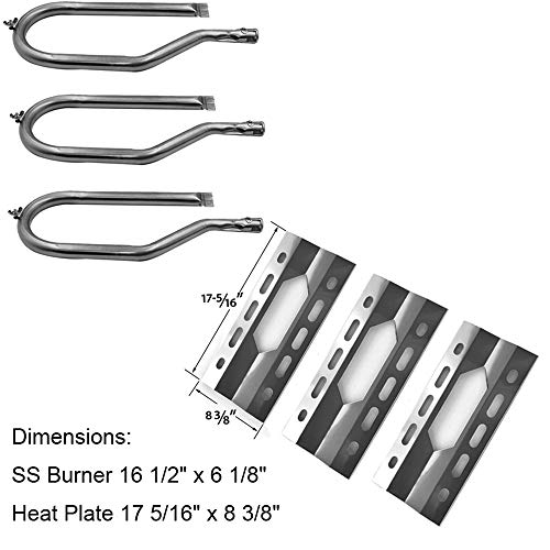 Sunshineey Replacement Parts Kit Stainless Steel Grill Burner Heat Plate for Nexgrill 720-0011,720-0047-U Costco Kirkland,Harris Tweeter, Sterling Forge Courtyard, Virco, and Others