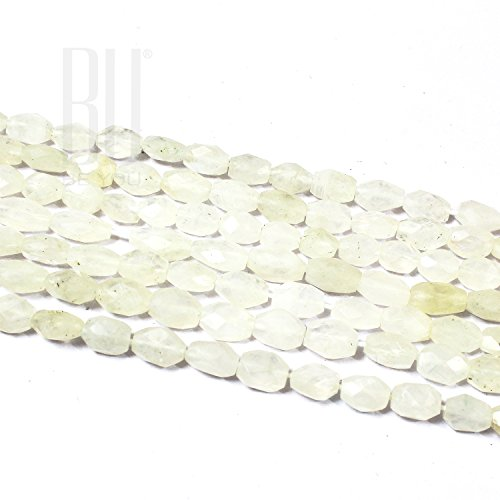 Be You Natural Indian White Rainbow Moonstone Gemstone Faceted Oval Beads 2 Line Loose 13 inch - Oval Two Stones