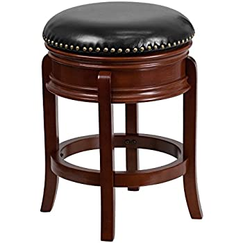 Flash Furniture 24u0027u0027 High Backless Light Cherry Wood Counter Height Stool with Black Leather  sc 1 st  Amazon.com & Amazon.com: Flash Furniture 24u0027u0027 High Backless Cappuccino Wood ... islam-shia.org