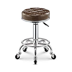 WENBO HOME- Simple Lattice Bar Chair Spa Salon Chair Massager Manicurist Stool Glossy Upholstery -chair ( Color : H )