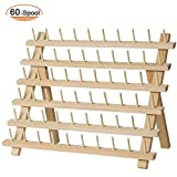 SAND MINE Wooden Thread Rack Sewing and Embroidery Thread Holder (60 Spool): more info